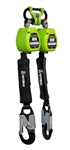 6 foot CLASS A Dual-Leg Web Retractable w/ In-Webbing Bracket and snap Hooks - FS-EX10065-W-BWB