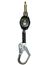 Class A Web Retractable Lifeline - 7 ft. w/ Rebar Hook