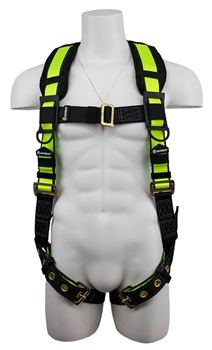 Pro No Tangle Harness with back d-ring and grommet legs - SafeWaze FS185