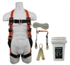 Fall Protection Compliance Kit in a bucket | SafeWaze FSROOF-E