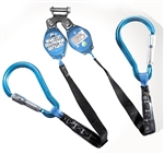 8 ft web Y-Retractable with Large Aluminum Carabiners | M2-HPSY8YABC