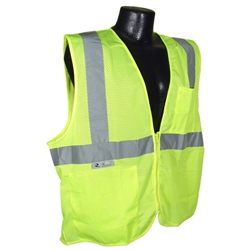 Class 2 Safety Vest with Zipper Closure