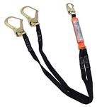 USLF62R Twin Leg Fall Arrest Lanyard with Rebar Hooks - SpanSet