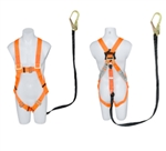 Universal Harness Lanyard Combo with rebar hook