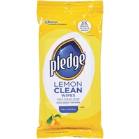 Pledge Lemon Furniture Polish Wipes