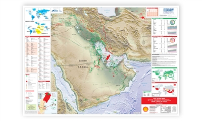 Map | Oil & Gas Map of the Arabian Peninsula, Iran, Iraq & Syria