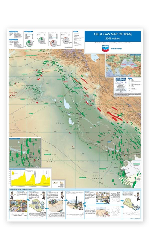 Oil Gas Map Of Iraq Petroleum Economist Store - Map of iraq