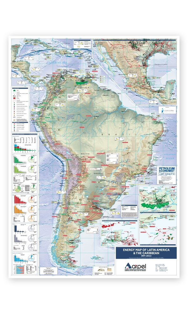 Energy map of latin america the caribbean petroleum economist store alternative views gumiabroncs Images