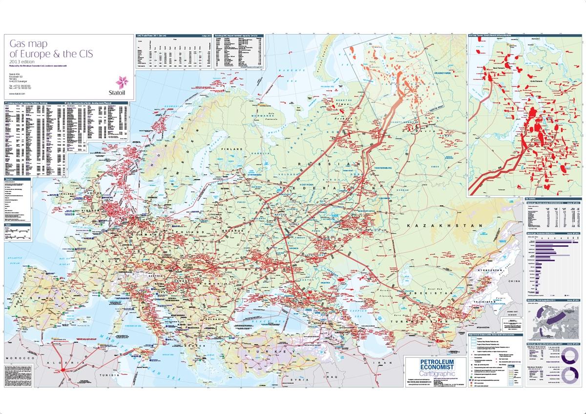 Gas Map Of Europe The CIS Petroleum Economist Store - Gas map