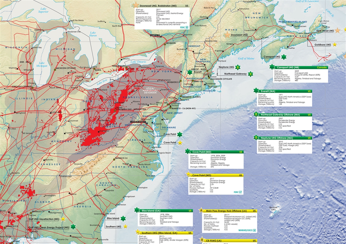 North america lng map petroleum economist store a map illustrating gumiabroncs Choice Image