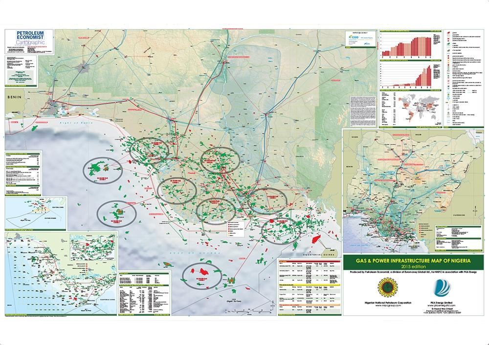 Gas Power Infrastructure Map Of Nigeria Petroleum Economist Store - Niger map hd pdf
