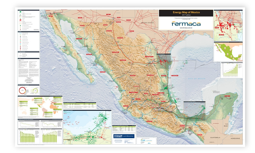 Energy Map Of Mexico Petroleum Economist Store - Picture of map of mexico