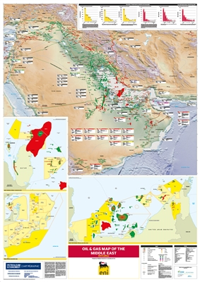 Map | Oil and Gas Map of the Middle East, 2019 edition