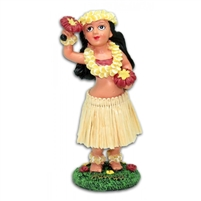 Miniature Dashboard Hula Doll w/ Uli Uli