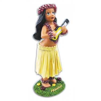 Miniature Dashboard Hula Doll - Girl w/ Ukulele
