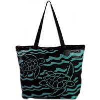 Swimming Blue Honu Beach Bag