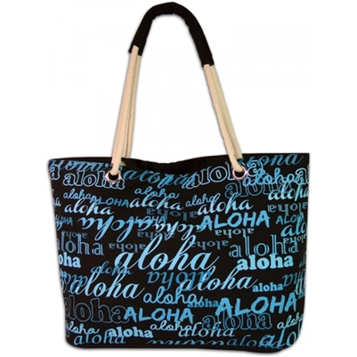 Blue Aloha Beach Bag