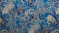 Electric Blue Tribal Print Fabric