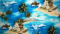 Blue South Pacific Cotton Fabric