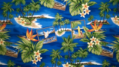 Island Life Cotton Hawaiian Fabric