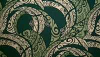 Green Cotton Tribal Print Fabric