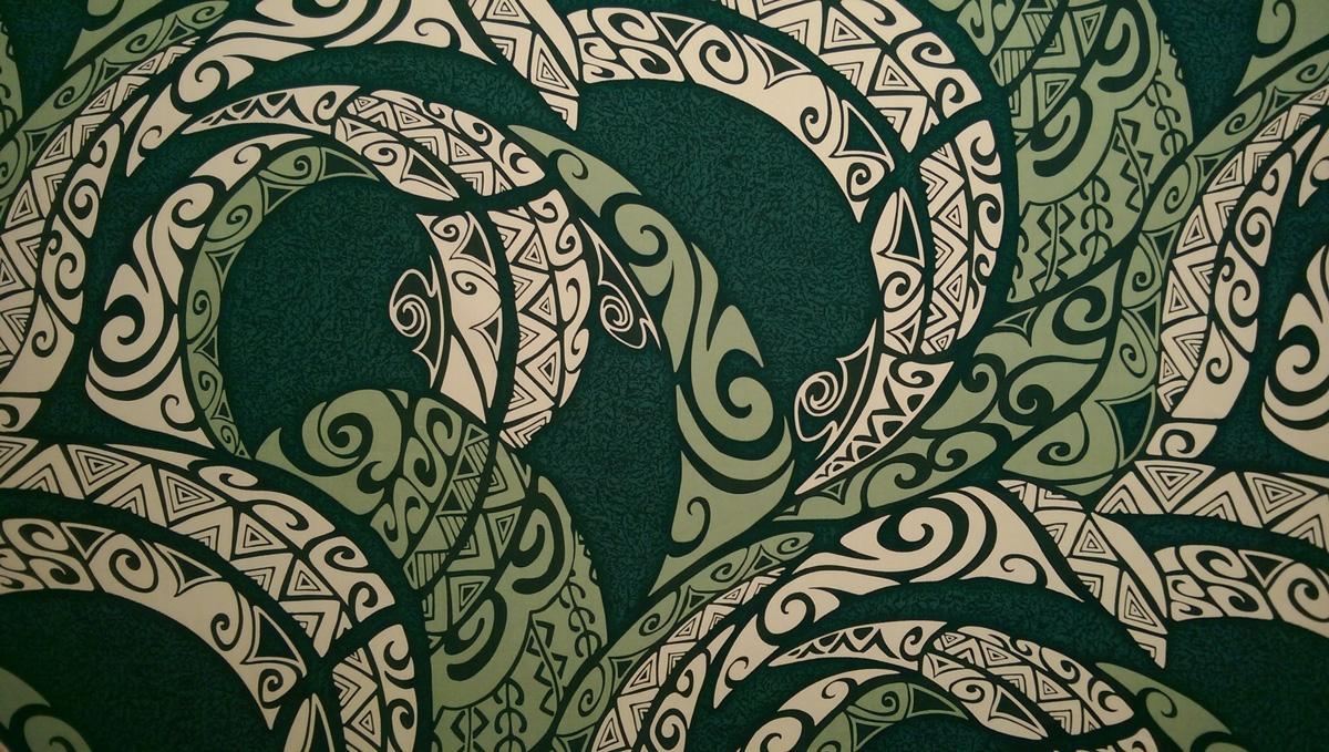Green Cotton Tribal Print Fabric
