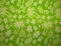 Lime PolyCotton Hawaiian Fabric