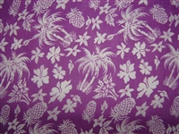 Purple PolyCotton Hawaiian Fabric