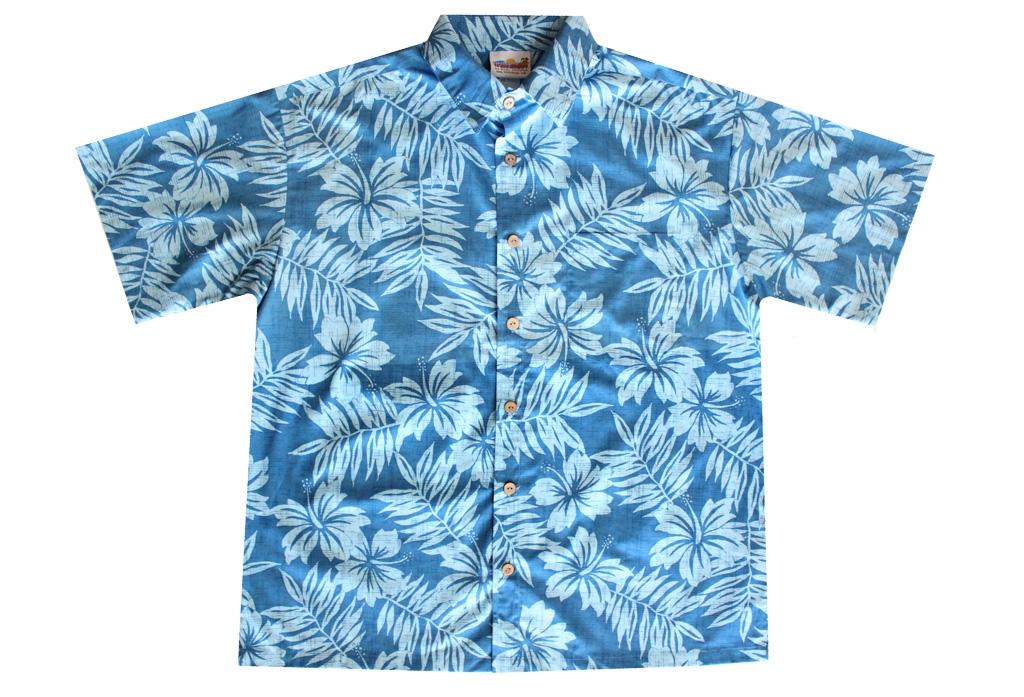 105a03af6d3a Distressed Mens Blue Hawaiian Shirt