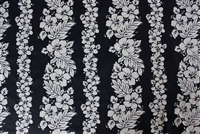 Black PolyCotton Hawaiian Fabric