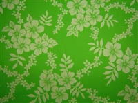 Hot Lime PolyCotton Hawaiian Fabric