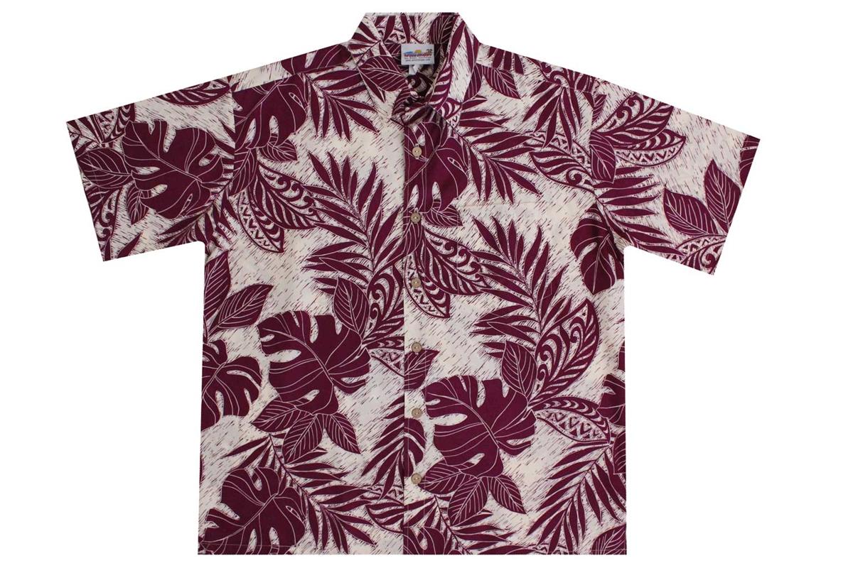 bcad5dad Men's Rayon Hawaiian Shirt with Polynesian Designs