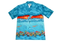 Sea Life Sunset Hawaiian Shirt