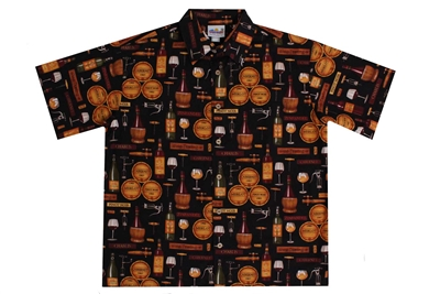 Wave Shoppe Mens Wine Tasting Hawaiian Shirt