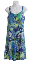 Peppermint Bay Tropical Orchid Hawaiian Dress