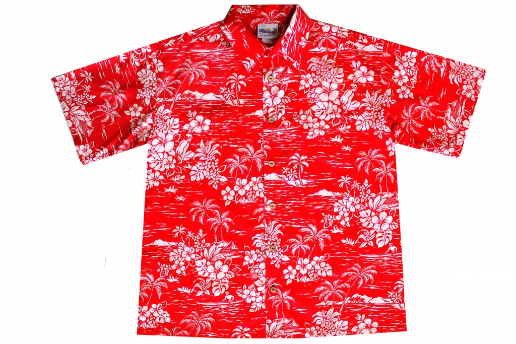 Mens Red Hawaiian Shirts