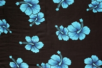 Turquoise Hibiscus Sarong
