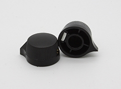Knurled Pointer Knob in Black