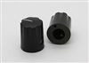 Miniature Fluted Knob in Black