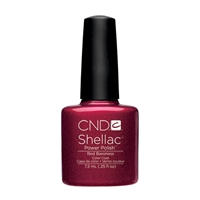 CND Shellac Red Baroness Color Coat .25 oz