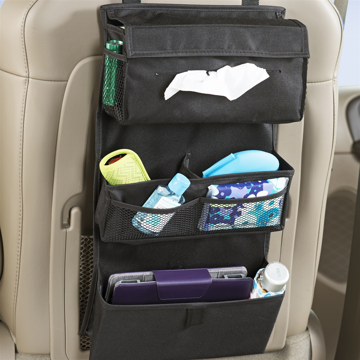 Toy Car Back Seat Organizer : Seat back organizer tissue holder for cars high road