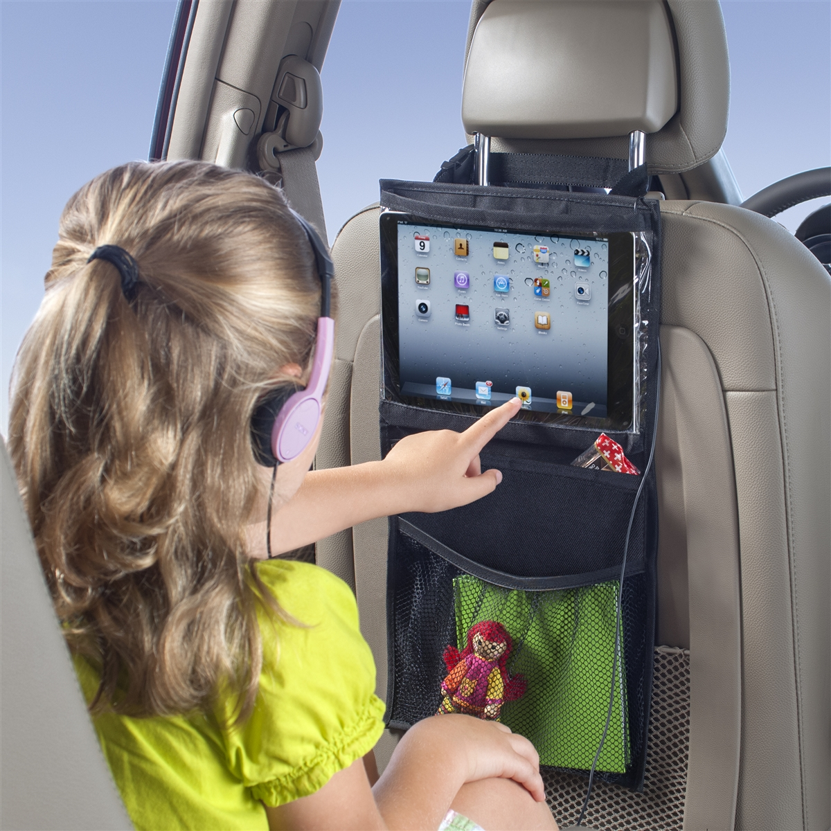 iPad and Tablet Holder Personal Insulated Storage Bag for Adults /& Kids lebogner Car Cooler Organizer Vehicle Front Or Back Seat Travel Bag Headrest Hanging Organizer for The Driver Or Passenger