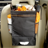 High Road Express Car Seat Organizer and Auto Trash Bag with Tissue Holder and Side Storage Pockets