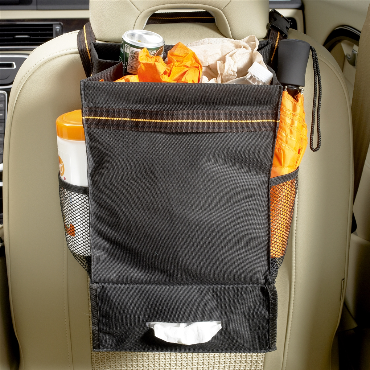 High Road Express Car Seat Organizer And Auto Trash Bag With