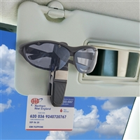 High Road Express Clip-On Car Visor Sunglasses Holder