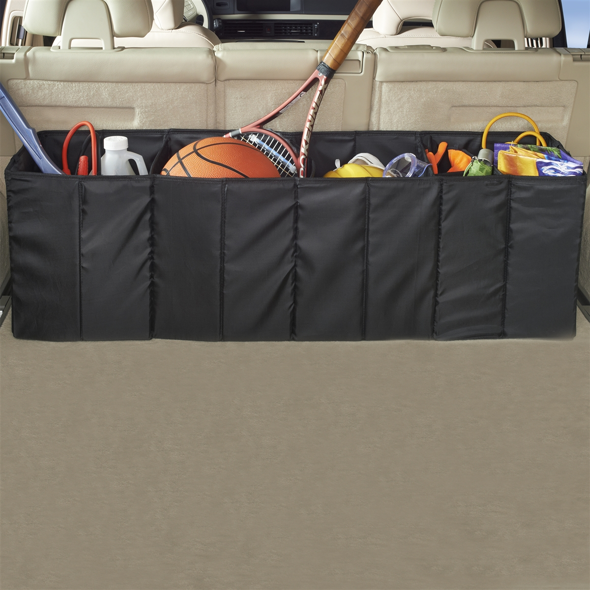 high road accordion car trunk organizer folding cargo organizer. Black Bedroom Furniture Sets. Home Design Ideas