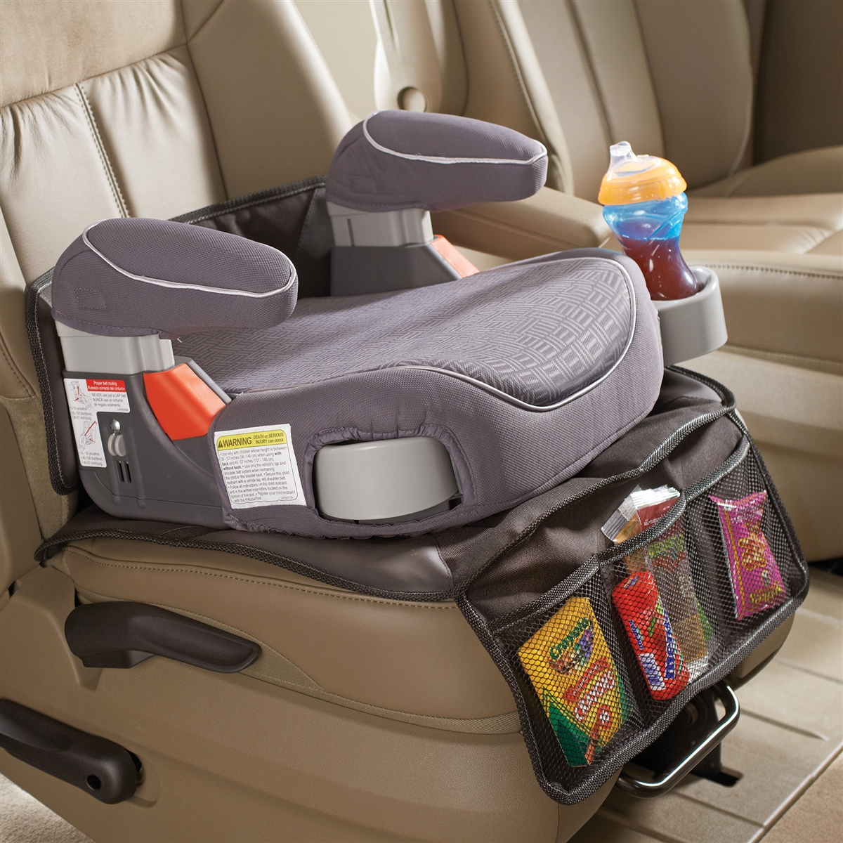 high road car seat protector mat for kids booster seats and child safety seats. Black Bedroom Furniture Sets. Home Design Ideas