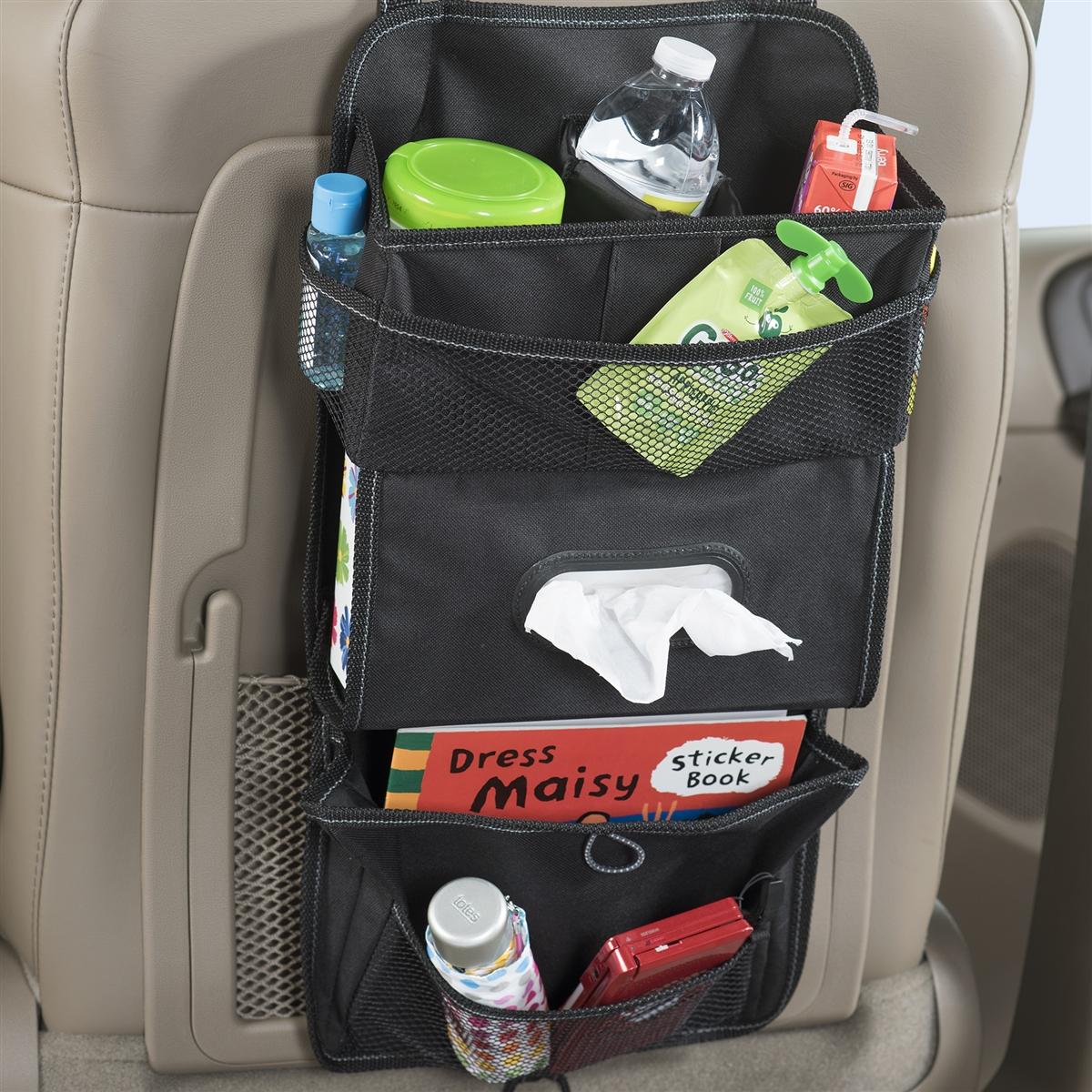 High Road TissuePockets Black Seat Back Car Organizer and Car Tissue ...