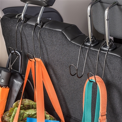 Set of 2 High Road Contour CarHooks, Car Seat Hooks to Hang from a Headrest