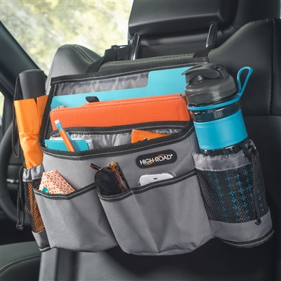 High Road Gray SwingAway Car Seat Organizer, Front Seat Organizer, Over the Seat Organizer, Car Organizer Front Seat
